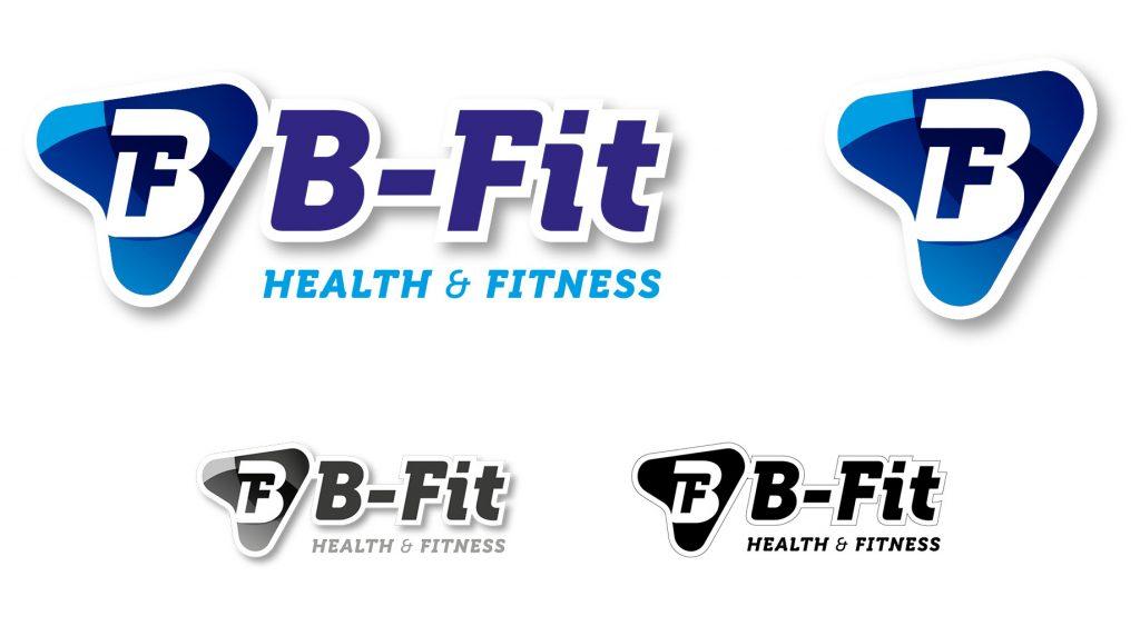 B-Fit Gym logos