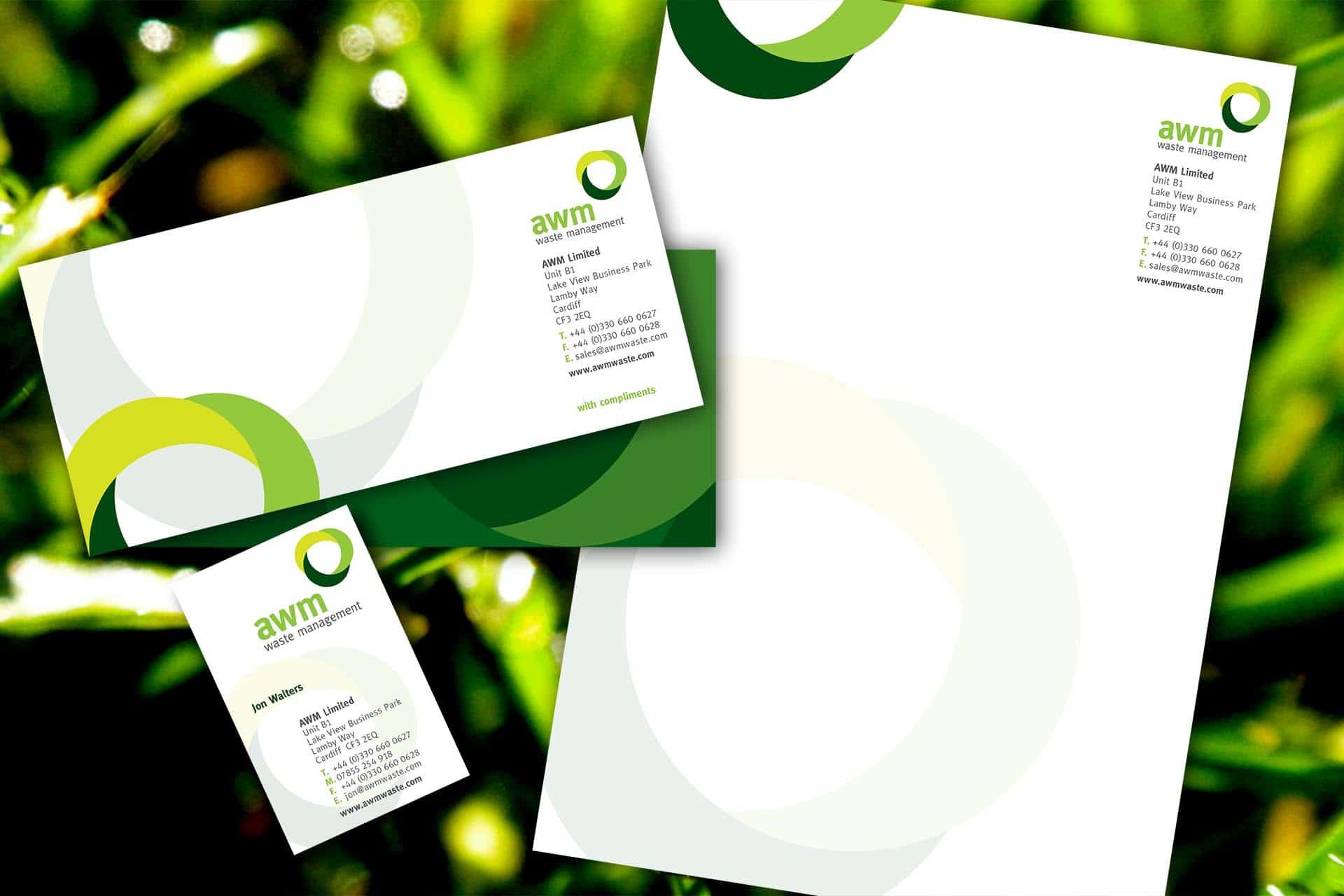 AWM Stationery branding and logo design