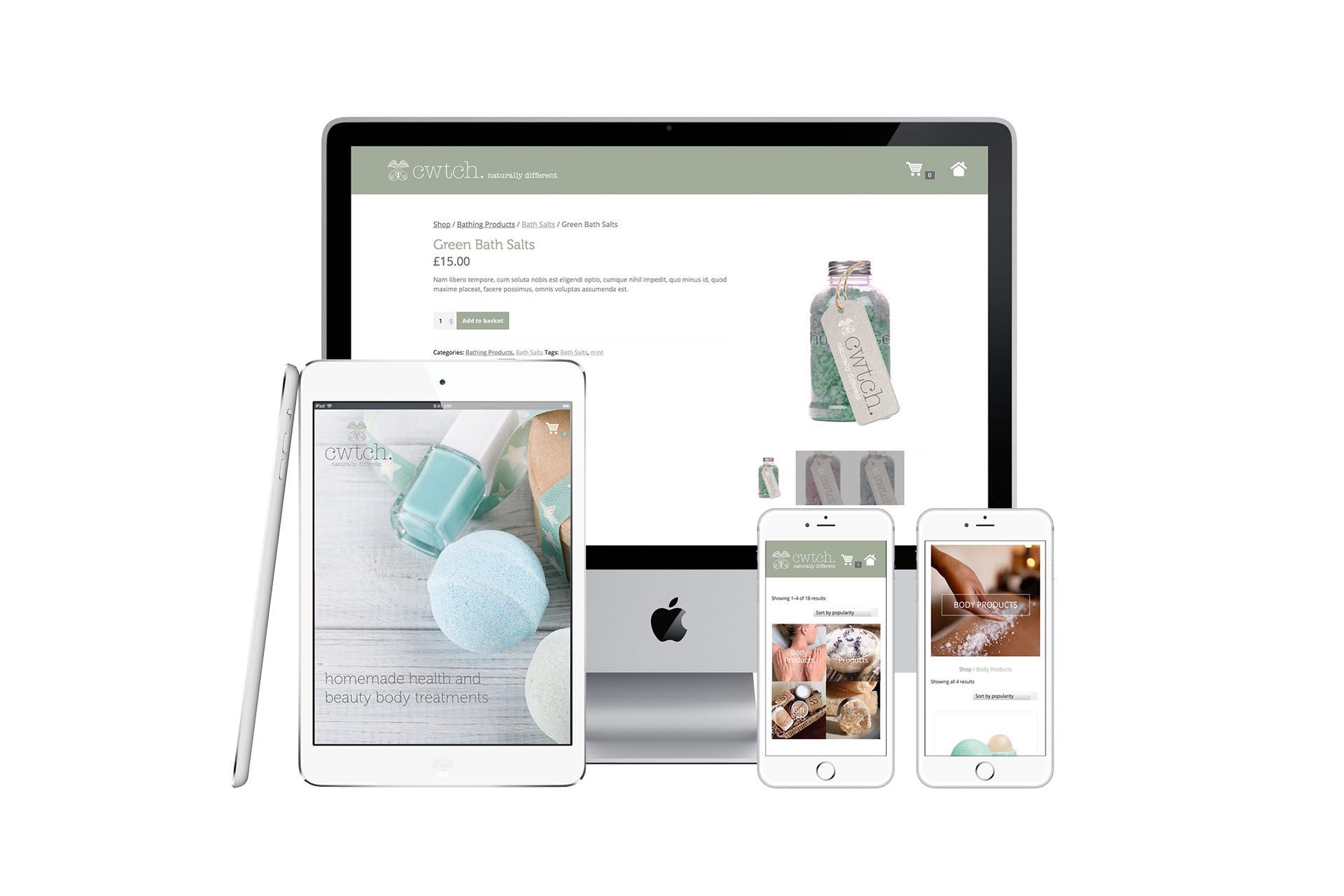 Cwtch eCommerce website design