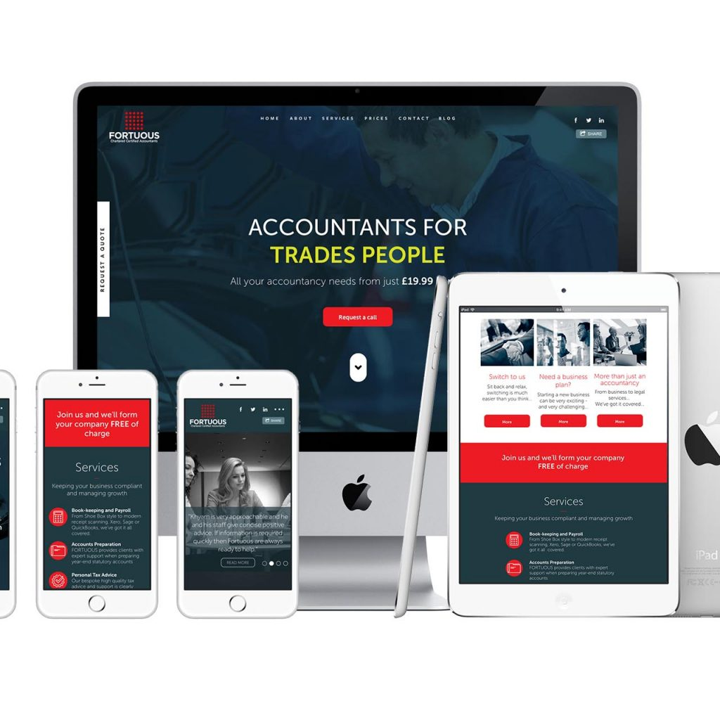 Fortuous Accountants Website Design