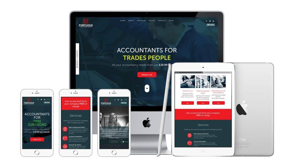 Fortuous Accountants Website Design