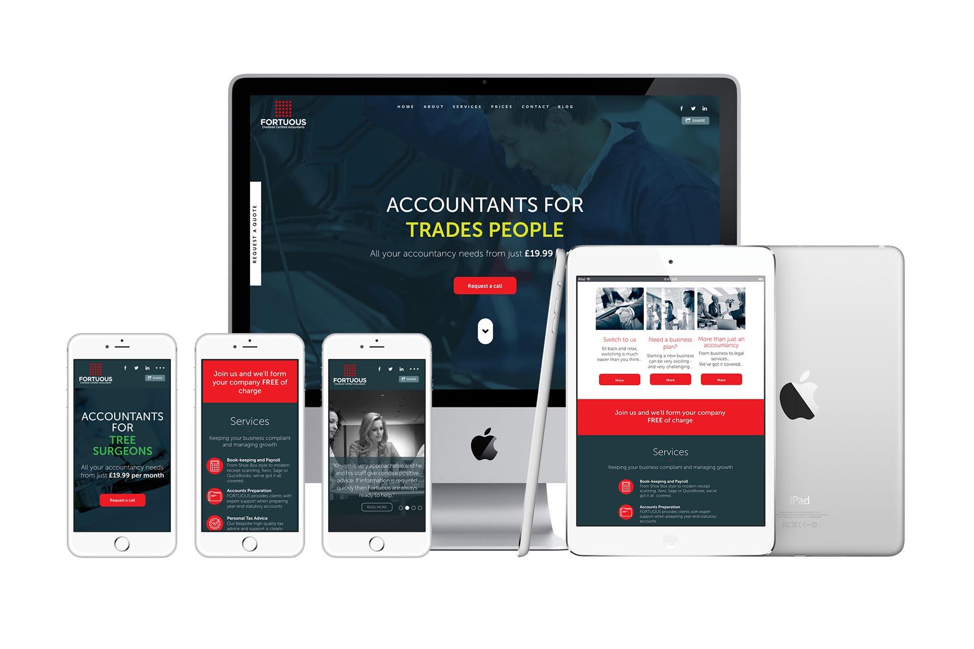 Fortuous Responsive website design