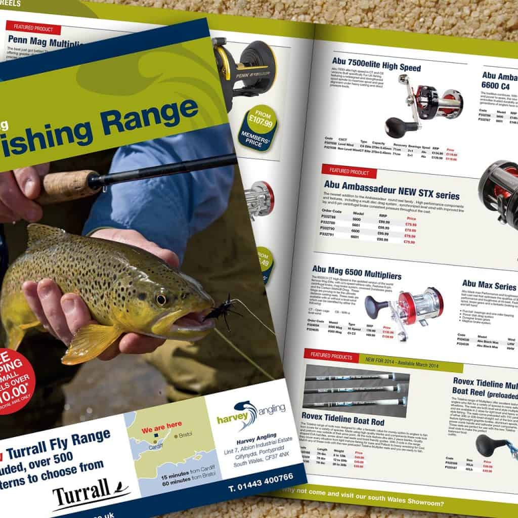 Harvey Angling Catalogue Design