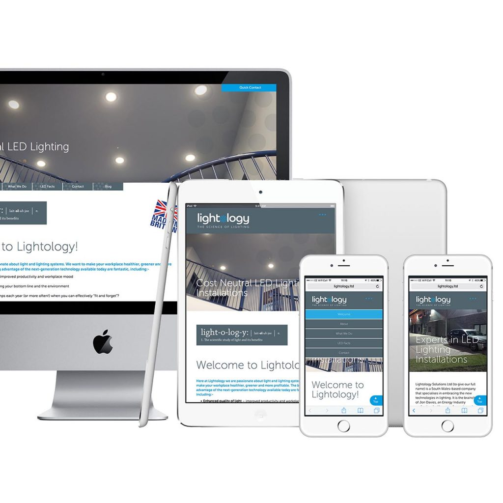 Lightology Solutions Website Design