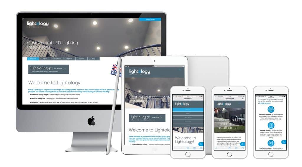 Lightology Solutions Website Design