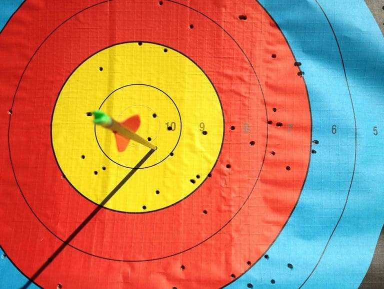 Target with arrow in the bullseye
