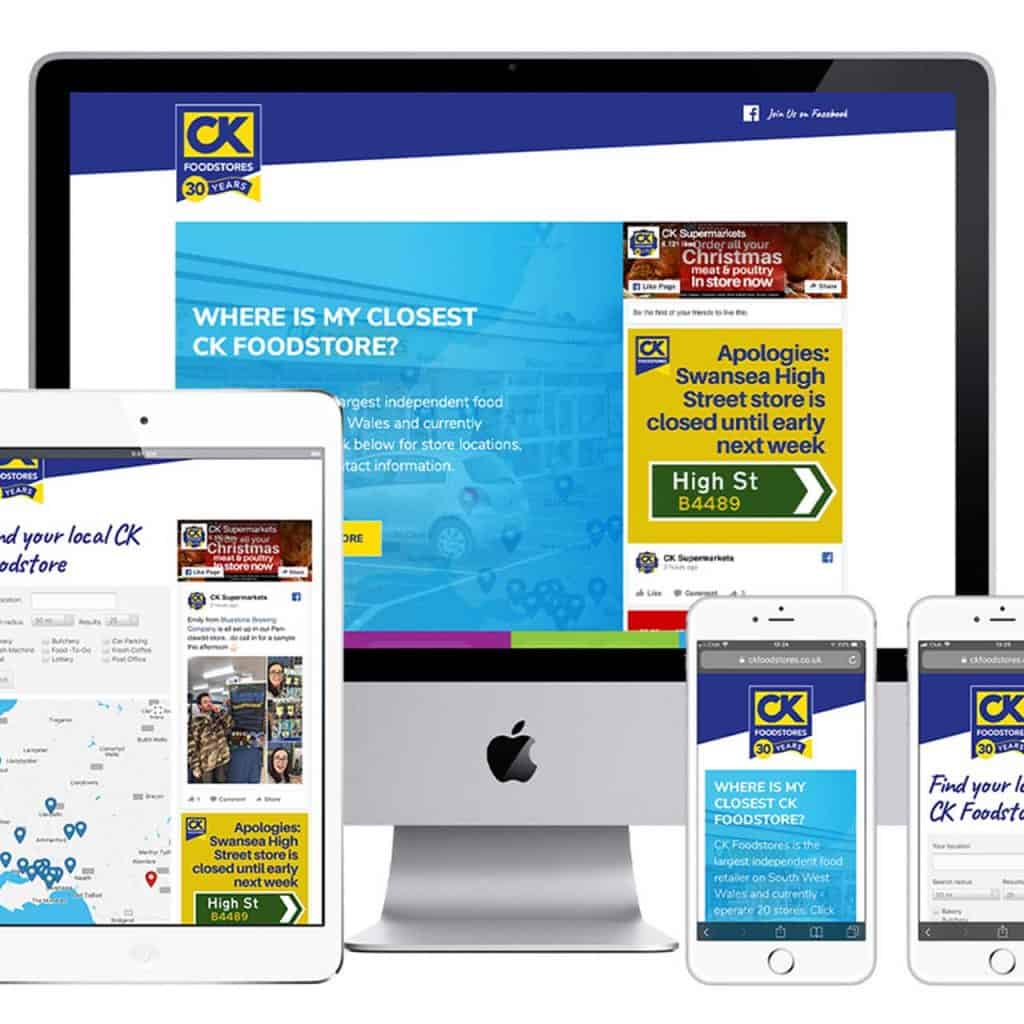 CK Foodstores website design