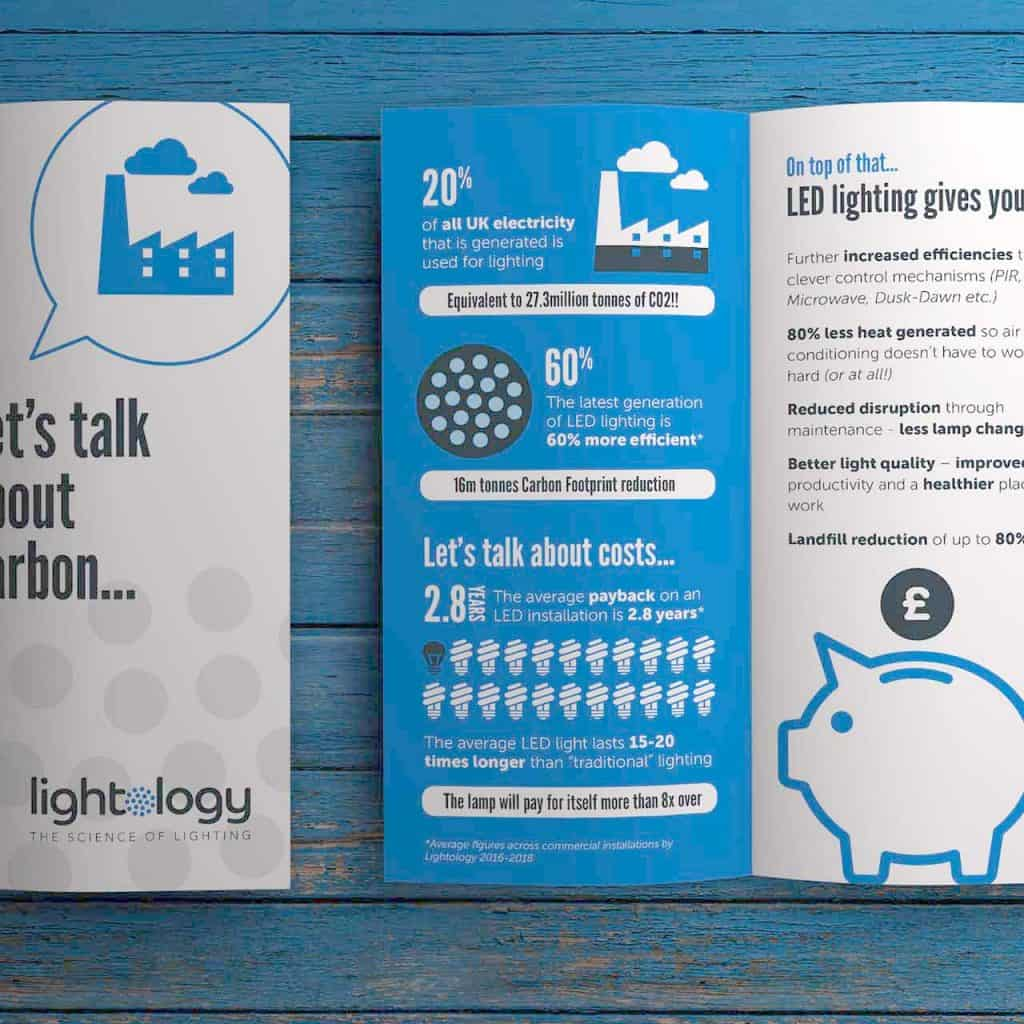 Lightology Leaflet Design