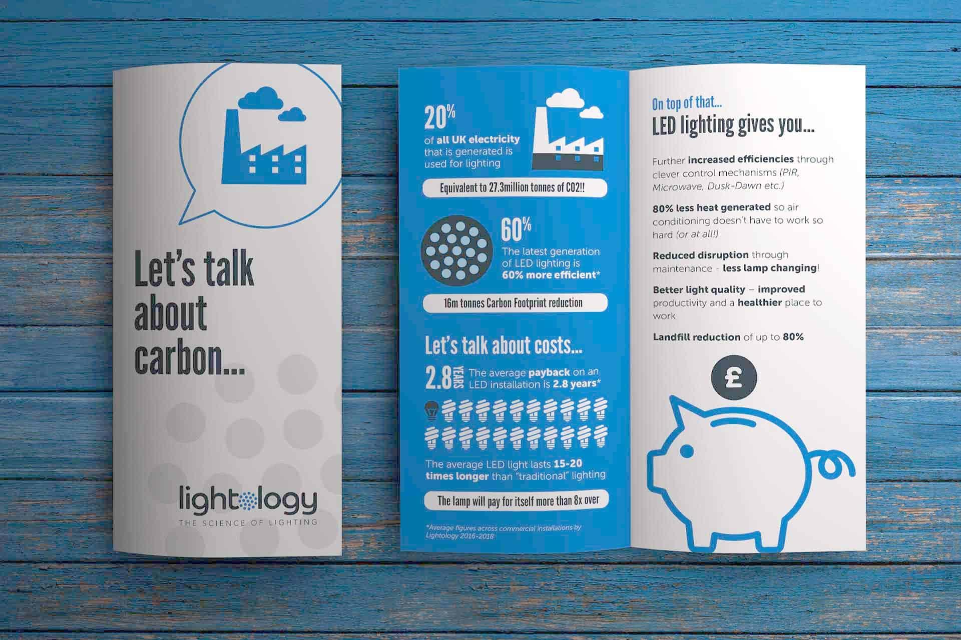 Lightology Carbon Leaflet design