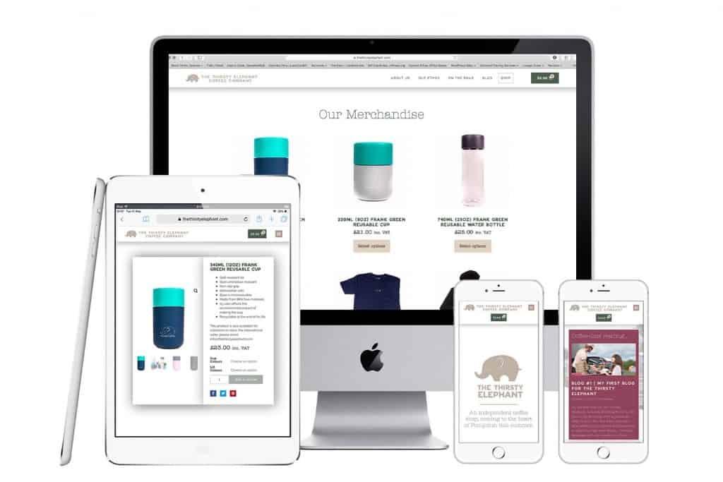 The Thirsty Elephant E-Commerce website