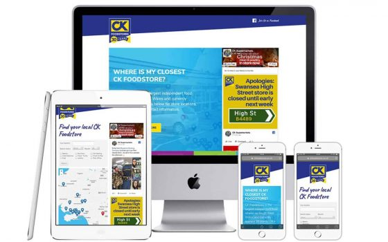 CK Foodstores Responsive website